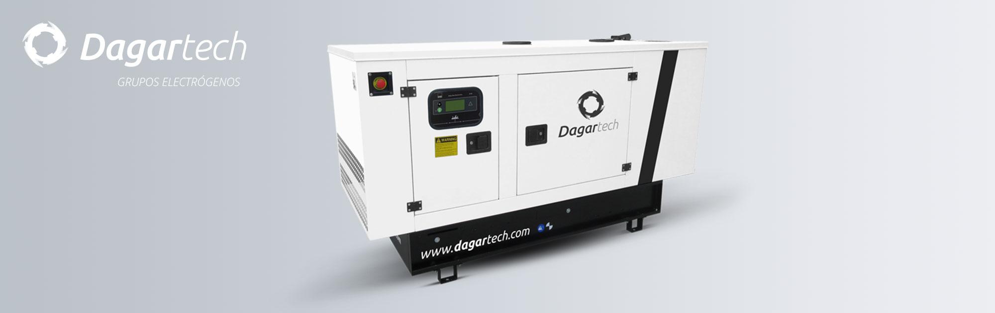 Grupo electrógeno abierto Dagartech de la Gama Balance Emergencia