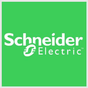 Logotipo componentes eléctricos Schneider