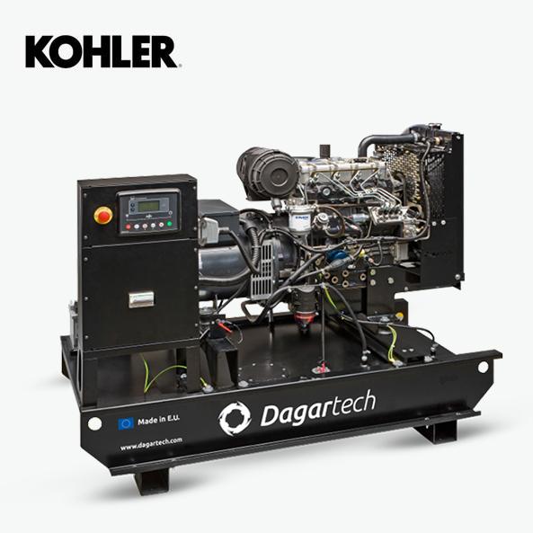 Groupe électrogène de la Gamme Agricole de Dagartech avec moteur Kohler refroidi à l'eau