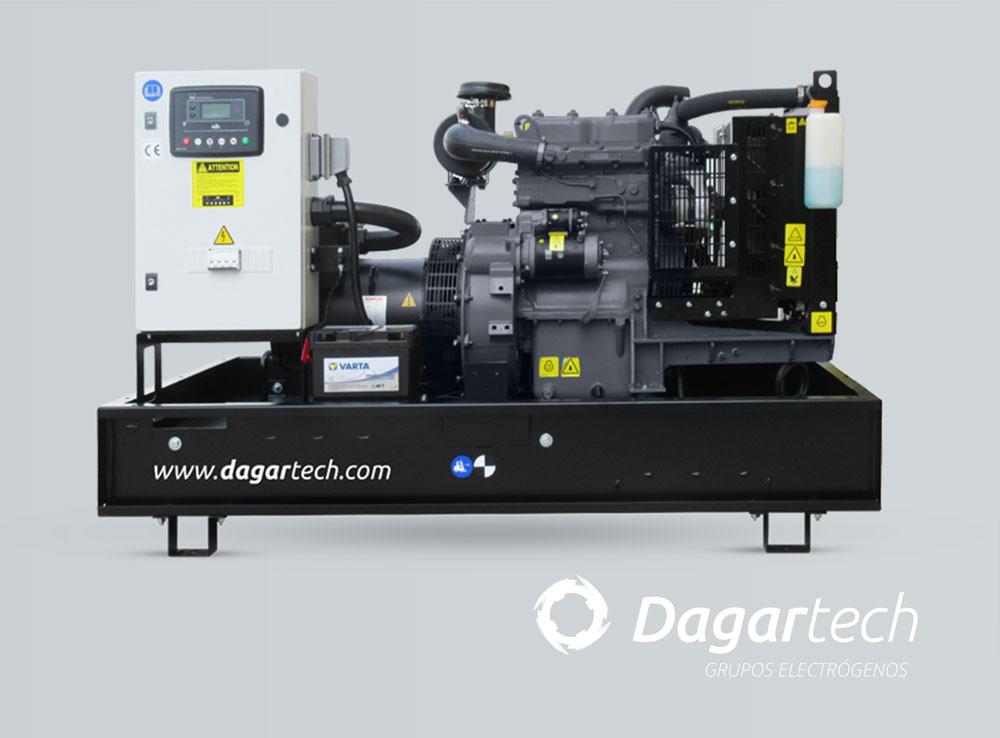 Grupo electrógeno abierto de la Gama Balance Emergencia con motor Kohler, Perkins y Cummins refrigerados por agua de Dagartech