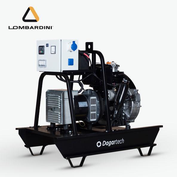 Grupo electrógeno Agrícola con motor Lombardini refrigerado por aire de Dagartech