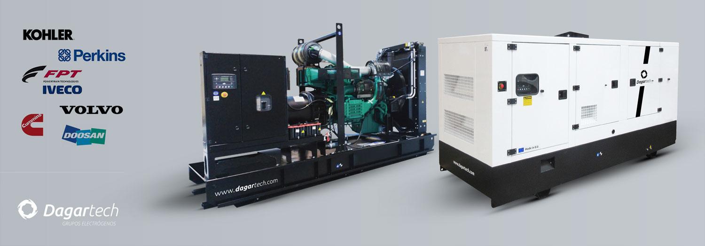 Grupos electrógenos para aplicaciones en el sector hospitalario con motor Perkins, Kohler, Iveco, Volvo, Doosan y Cummins refrigerados por agua de Dagartech