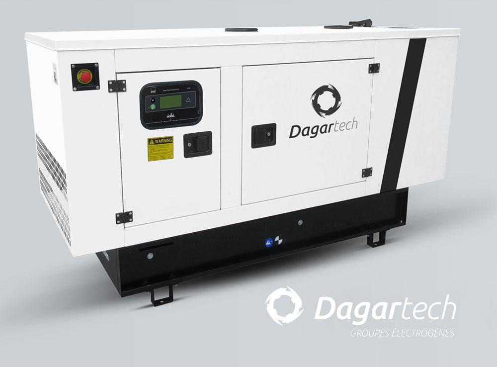 Groupe électrogène Balance insonorisé pour applications industrielles avec moteur Kohler, Perkins et Cummins avec refroidissement par eau de Dagartech