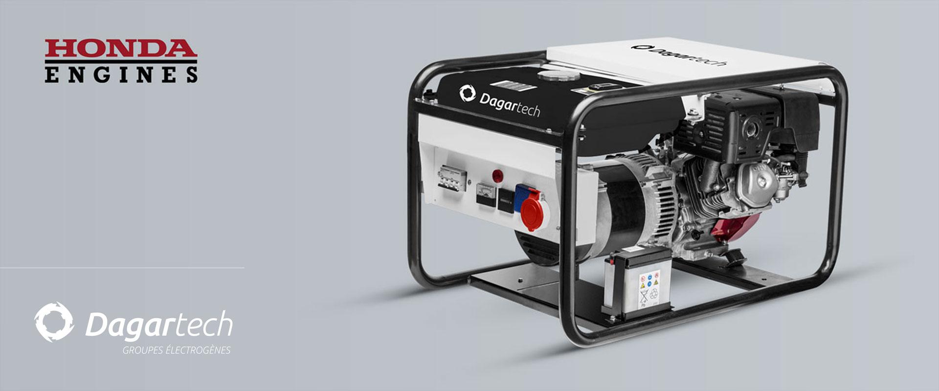 Groupe électrogène Portable Résidentielle pour applications industrielles avec moteur Honda avec refroidissement par air de Dagartech