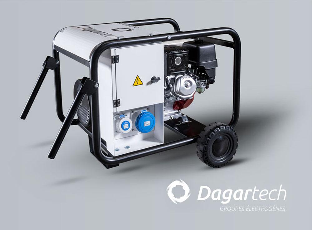 Groupe électrogène Portable de la gamme BC pour applications industrielles avec moteur Kohler, Perkins, Iveco  ou Volvo avec refroidissement par eau de Dagartech