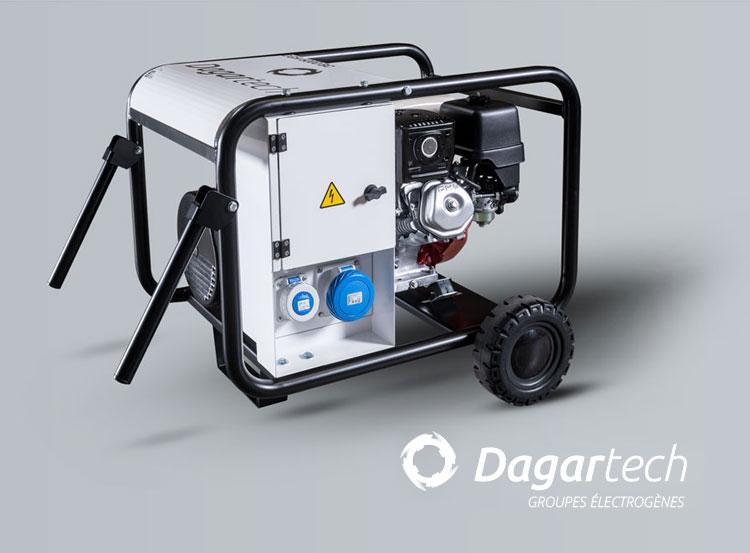 Groupes électrogènes de la Gamme Portable pour la location de machines de Dagartech
