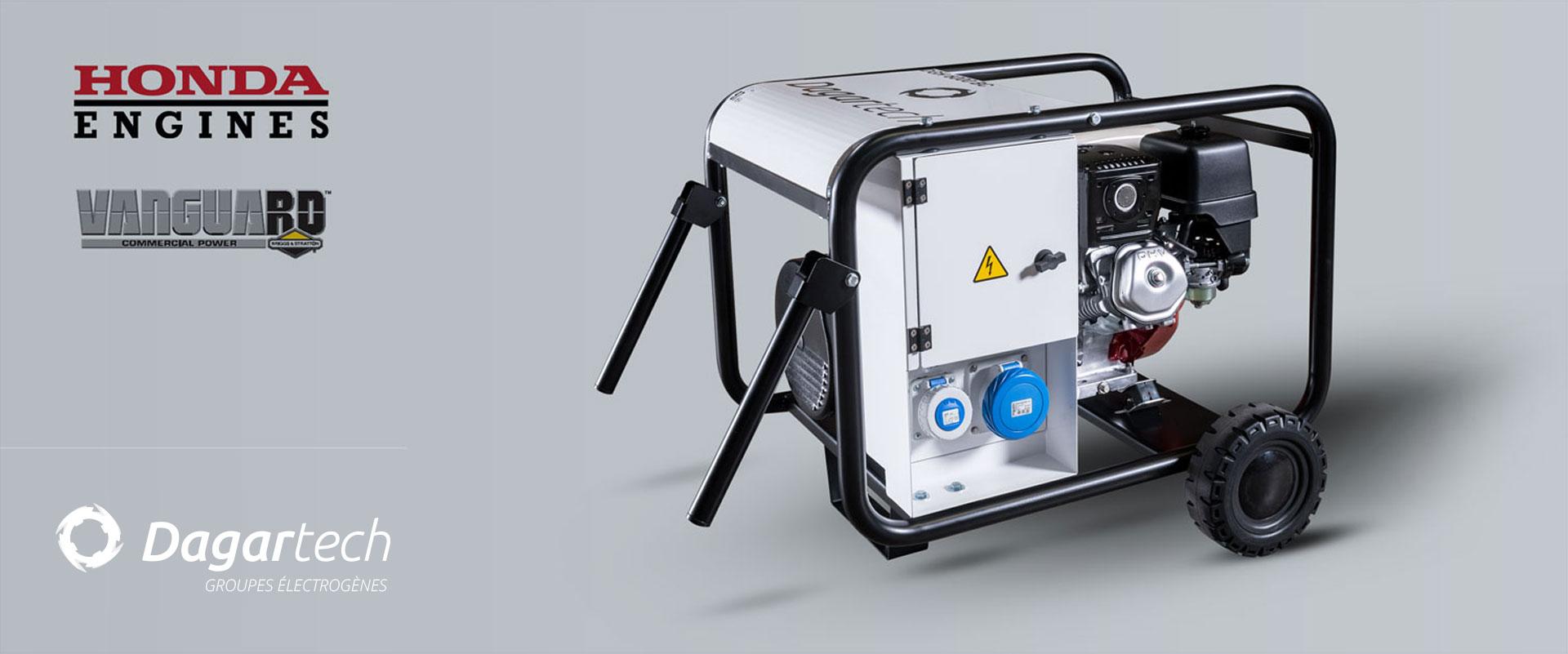 Groupe électrogène de la Gamme Portable BC Dagartech pour Locations de machines