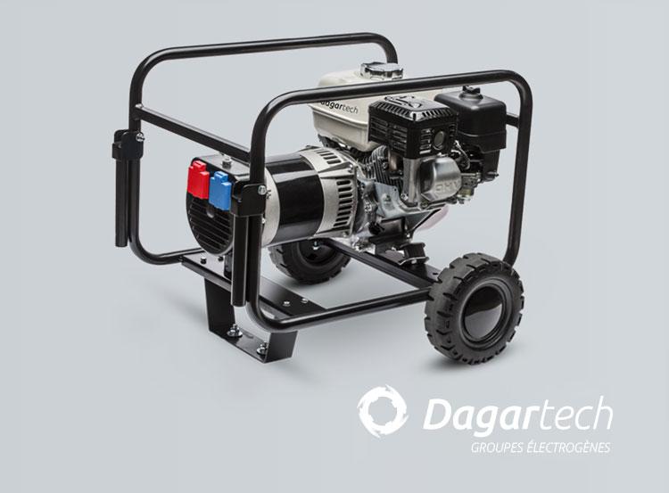 Groupe électrogène Portable Basique pour applications industrielles avec moteur Honda avec refroidissement par air de Dagartech
