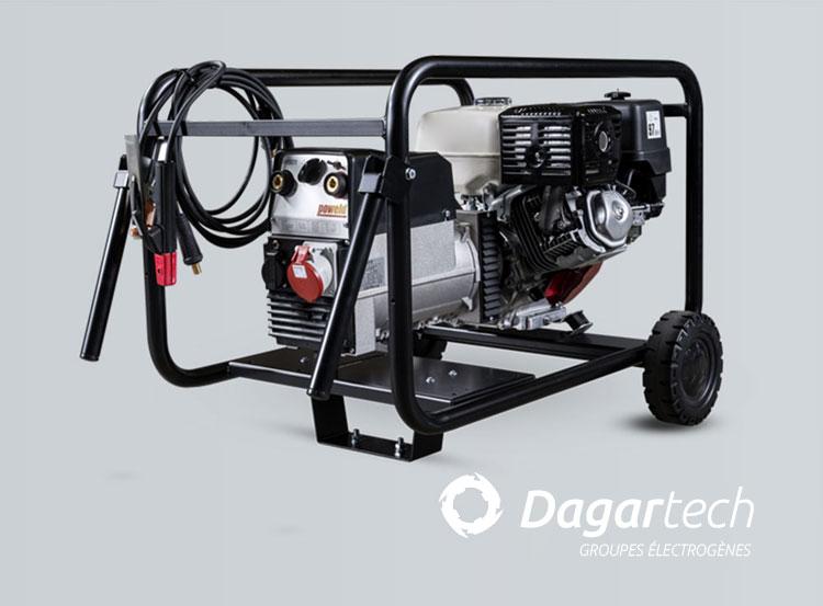 Groupe électrogène Portable Soudure pour applications industrielles avec moteur Honda avec refroidissement par air de Dagartech