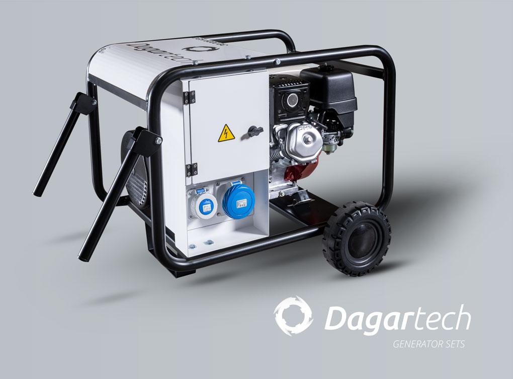 Portable generator set for machinery rental