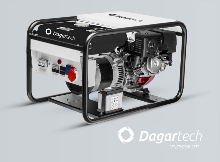 Dagartech Residential portable generator set for use in infrastructures with air cooled Honda engine