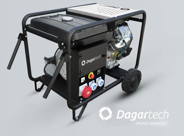 Grupo gerador da gama Portátil BC Dagartech com motor Honda ou Vanguard com refrigeração por ar para aluguer de equipamentos