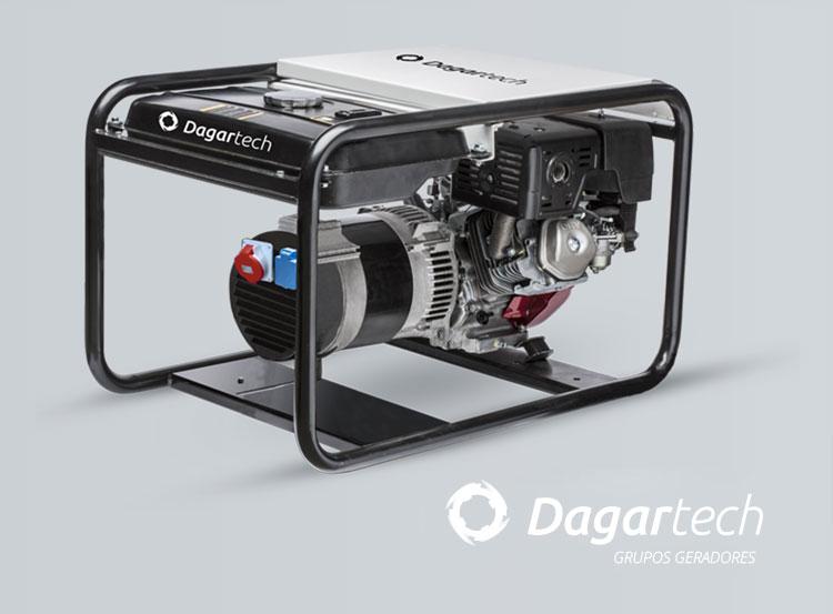 Grupo gerador da gama Portátil Profissional Dagartech com motor Honda com refrigeração por ar para aluguer de equipamentos