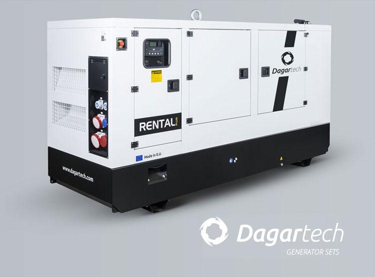 Rental generator set for machinery rental