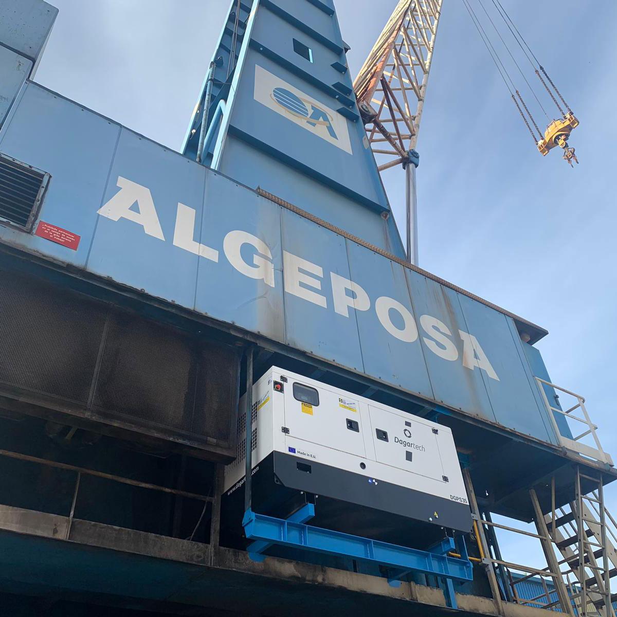 Grupo electrógeno Dagartech de 35 kVA con tratamiento especial C5M instalado en el Puerto de San Sebastián